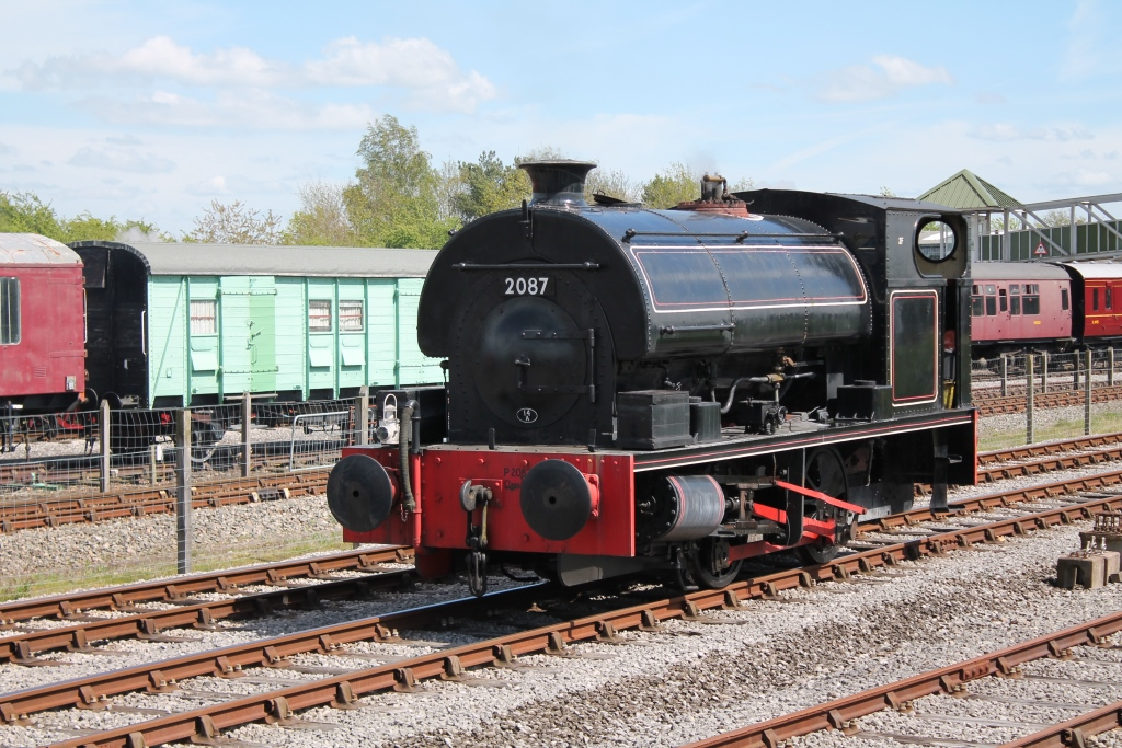 No. 2087 in the Down Yard during BRC's Steam Gala May 2015