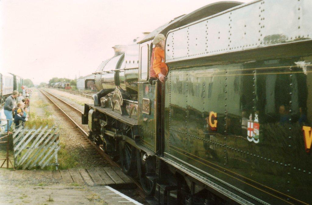 No. 6024 King Edward I during the mainline visit in August 1992