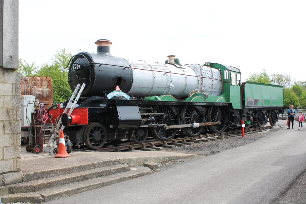 Wightwick Hall in Quainton's Up yard during the May 2015 Steam Gala