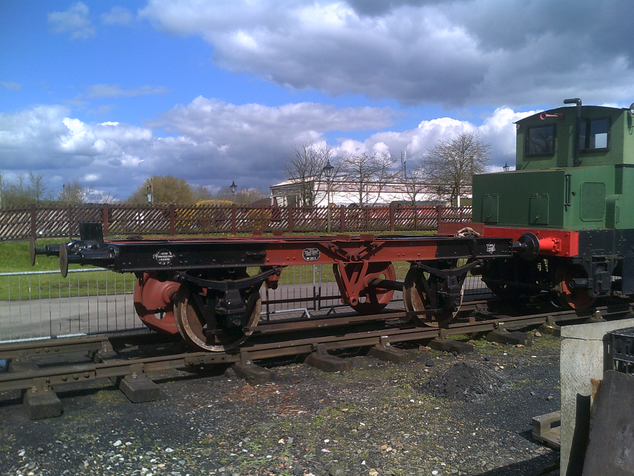 Esso Tanker with tank removed for repairs to end support timbers - 17th April 2016