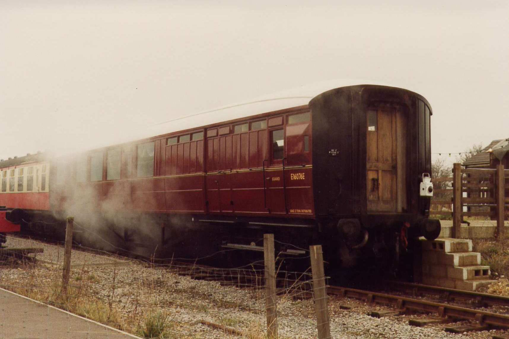 LNER Brake as BR E16076E on Santa special 1991