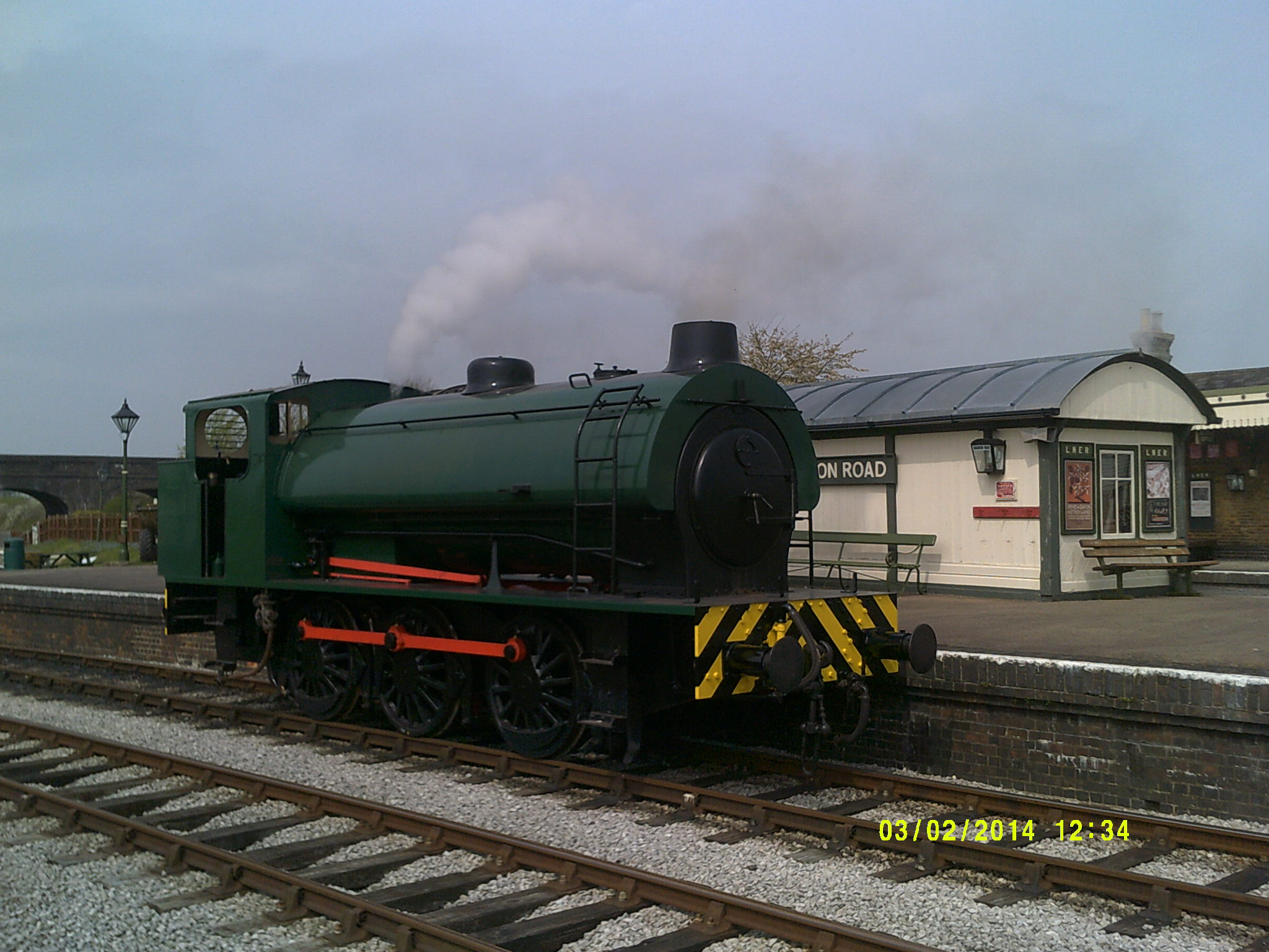 NCB66 on first steam test 24th April 2015