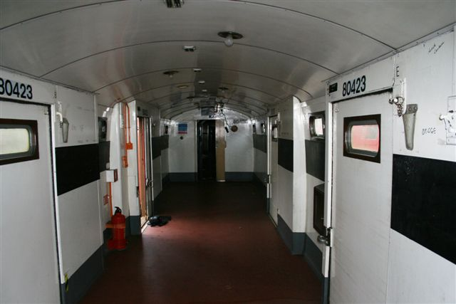 Inside the TPO shortly after arrival at Quainton